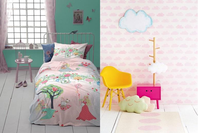 Fotobijschrift foto links dekbedovertrek dreamland van cinderella www arligroup nl foto rechts - Roze meid slaapkamer ...