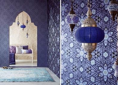 Links eijffinger yasmin collectie behangnummer 341756 341731 341741 rechts eijffinger yasmin - Buiten muur kraan decoratieve ...